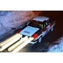 Dansk Audi 80 starter i Rallye Monte-Carlo fra Rådhuspladsen den 29. januar