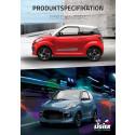 Produktspecifikation för mopedbilsmodellerna JS50C och JS50L