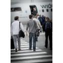 Svak oppgang i flytrafikken
