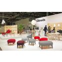 Gärsnäs monter i gestaltning av Färg & Blanche Stockholm Furniture Fair 2015, monter A11:20