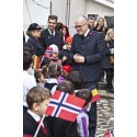 "Knut Haugsvær i Frelsesarmeen, på åpning av det nye ""community center"" i Romania."