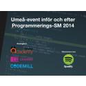 Jimmy Mårdell, Spotify, värmer upp Umeå inför Programmerings-SM