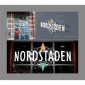Avancerad och innovativ inifrån belyst led fasadskylt till Nordstaden AB