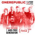 OneRepublic Coca-Colan (RED) -kampanjassa