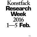 Konstfack Research Week 2016