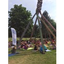Hagabadet bjuder på yoga och träning under bar himmel