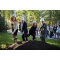 Första spadtaget till ny akutvårdsbyggnad på Danderyds sjukhus
