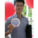 National Day Rally Event - Participant holding up his wish for Singapore