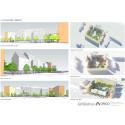 Skiss över nybyggnationen Fyra hus