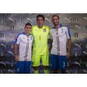 Marco Verratti, Gianluigi Buffon & Giorgio Chiellini at the FIGC & PUMA Away Kit Launch