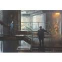 Från Hollywood till Slussen. Vernissage för konceptdesignern Henrik Tamms målningar med Slussen-motiv