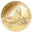 Pippi-mynt i guld lanseras på Skansen i Stockholm