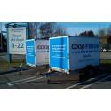 Gratis släpvagnar hos Coop Forum Borås