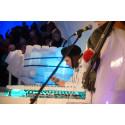 Världspremiär för det nya isinstrumentet cymbalonen med Bo Anders Eriksen från Köpenhamn