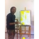Iddi Bashir i ateljén