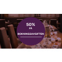 Halva bokningsavgiften! | 50% på alla bokningar