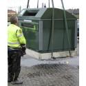 Återvinningsstationen vid ICA Skånsta har flyttats