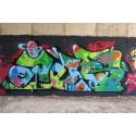 Graffitikonst i skärgårdsmiljö