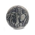 Mynt 6/9, Nr: 123, MINNE, silver, Carl Gustaf Mannerheim, 2 delar, 1977, av Kauko Räsänen