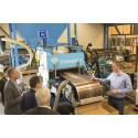 Världsunik patenterad press för avvattning av biomaterial