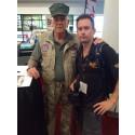 R. Lee Ermey och jag på Sema Show-2014, världens största bilmässa