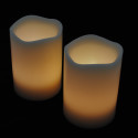Blockljus med färgval och fjärr 3-pack-frilagd gulvita