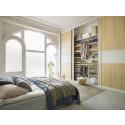 Soveværelsesopbevaring med Artic skydedøre og Décor indretning