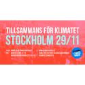 Stockholmarna svarar upp mot parisarnas upprop i klimatfrågan