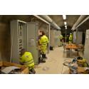 Montage av kraftutrustning i tvärtunnel i Hallandsåsen