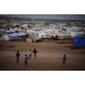 Människor på flykt från Syrien i norra Irak (Kurdistan).