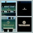 LED-belyst fasadskylt till Trivselhus huvudkontor i Korsberga