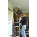 Byggnadsvårdsläger vid Hvita villan - limfärg