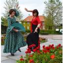 Blodröda rabatter och eldig flamenco i Botaniska