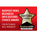 Neopost wins Business Info Editors Choice award for its Returned Mail Manager software solution