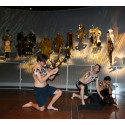 Skuespillere fra Skuespillerakademiet opfører performance på  Nationalmuseet