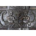 Carvings inside the old Hopwood Hall