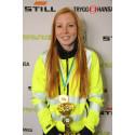 Josefin Axfjord är glad vinnare av Kvaltävling till Yrkes-SM