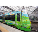 Artwork train brings Borders Railway to life