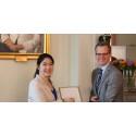 Mengting – Högskolan Västs representant vid årets Global Swede-ceremoni