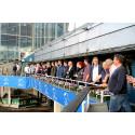 Från balkongen kunde Weblinks kunder njuta av travtävlingarna