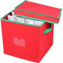 Väska för julkulor - locket på glänt