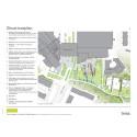 Nytt centrumtorg och stadspark i Tyresö - situationsplan