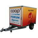 På Coop Forum finns det gratis släpvagnar