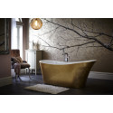 Heritage Bathrooms Holywell Freestanding Acrylic bath in gold effect finishing