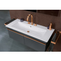 Metal highlights in the bathroom – Gleaming accents for washplaces, showers and baths