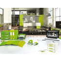 Leitz WOW range in green in home office