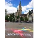XO Belgium paints Belgian cities pink