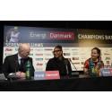 MCH's administrerende direktør Georg Sørensen sammen med Serena Williams og Ana Ivanovic