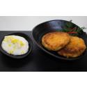 Korshags recepttips: Laxbiffar på varmrökt lax med citroncrème