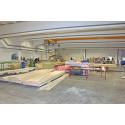Vy från Svensta huskomponenter ABs nya industrilokal i Hantverkshuset Svenstavik